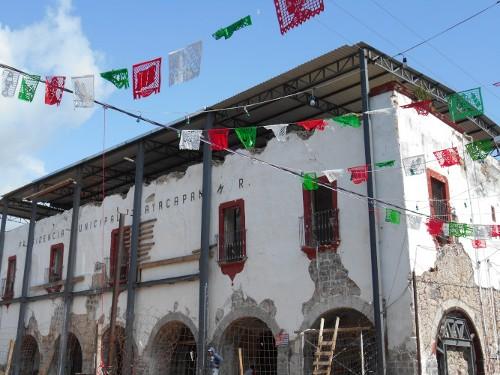 Imagen de Morelos: a más de dos años del sismo (propio), Presidencia municipal de Tlayacapan (atribuido)