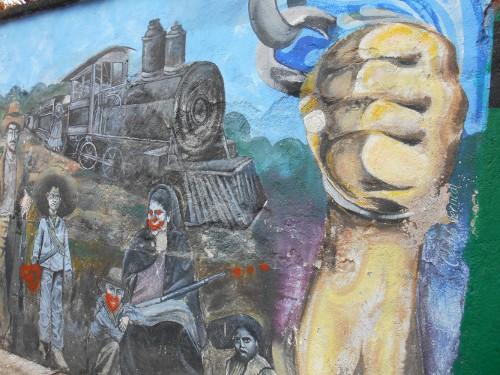 Imagen de El grafiti histórico en las calles de Morelos (propio), Fragmento de un mural dedicado a las mujeres revolucionarias (atribuido)