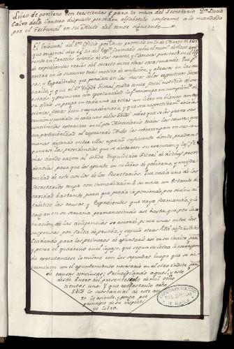Imagen de Libro de govierno con trescientas (fojas) para la mesa del Secretario Dn. Lucio Calvo de la Cantera dispuesto por orden alfabetico conforme a lo mandado por el Tribunal en su Auto del tenor siguiente… (atribuido)