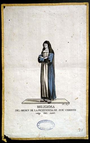 Imagen de Religiosa del Orden de la Penitencia de Jesu Christo, vulgo del Saco (propio)