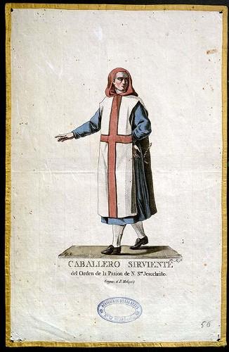 Imagen de Caballero Sirviente del Orden de la Pasion de Nuestro Señor. Jesuchristo (segun el Padre Helyot) (propio)