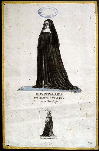 Imagen de Hospitalaria de Santa Catalina con el Trage de Coro (propio)