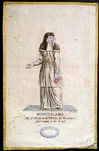 Imagen de Hospitalaria de Sn Juan Bautista (de Beauvais) según vestian el año de 1246 (propio)