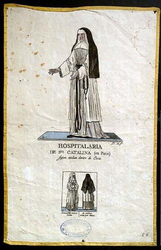 Imagen de Hospitalaria de Sta. Catalina (en Paris) según andan dentro de Casa (propio)