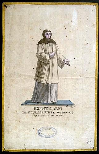 Imagen de Hospitalario de Sn Juan Bautista (en Beauvais) según vestian el año de 1500 (propio)