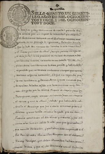 Imagen de Certificación de dos testimonios sobre la actividad conspirativa de los insurgentes y la participación que tenía Leona Vicario (atribuido)
