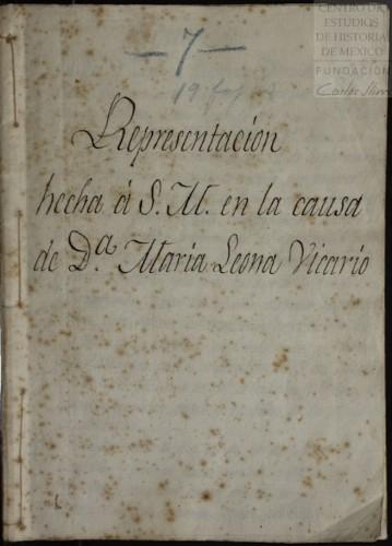 Imagen de Representación hecha a S.M. en la causa de Da. María Leona Vicario (propio)