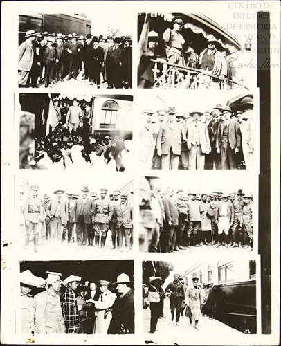 Imagen de Secuencia de fotografías sobre Obregón en la estación de ferrocarril (atribuido)