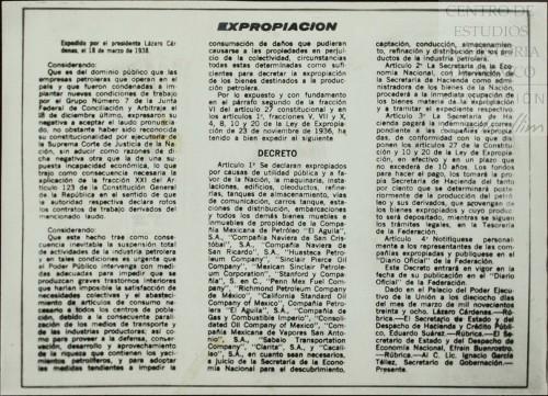 Imagen de Decreto de expropiación petrolera (atribuido)