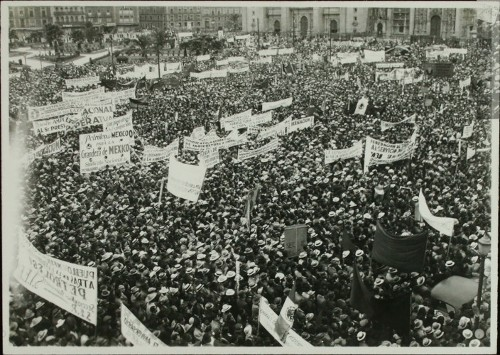 Imagen de Manifestación obrera frente al Palacio Nacional (atribuido)