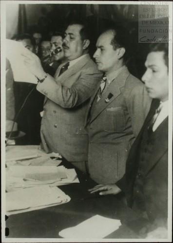 Imagen de El presidente Lázaro Cárdenas en la Convención de la CTM (atribuido)