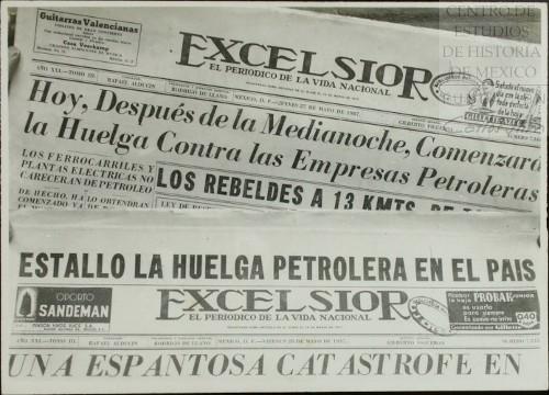 Imagen de La prensa de la capital anuncia el estallamiento de la huelga en las empresas petroleras (atribuido)