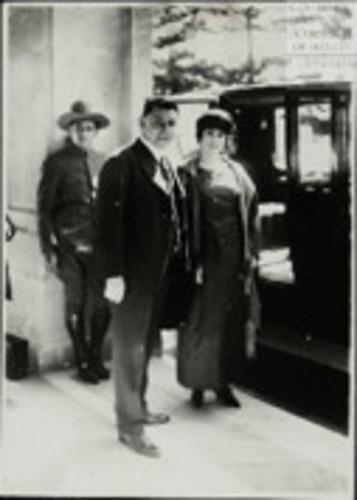 Imagen de El Presidente de la Huerta se despide de Chapultepec (atribuido)