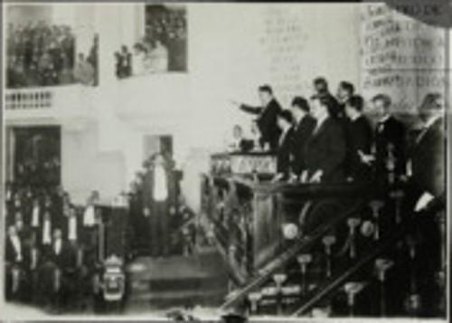 Imagen de Adolfo de la Huerta rinde la protesta de Ley ante el Congreso de la Unión como presidente sustituto (atribuido)
