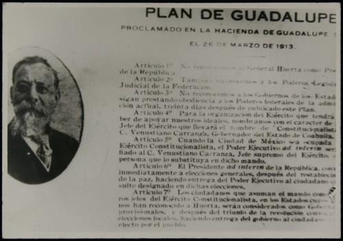 Imagen de Plan de Guadalupe, tal como circuló en los estados del norte los primeros días de abril de 1913 (atribuido)
