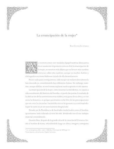 Imagen de La emancipación de la mujer (propio)