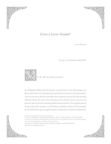 Imagen de Carta a Lucas Alamán (propio)