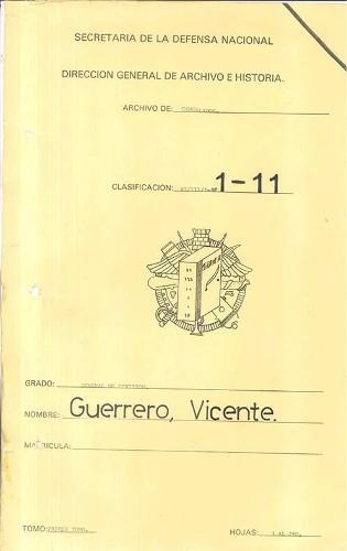 Imagen de Expediente Vicente Guerrero Tomo I (propio)