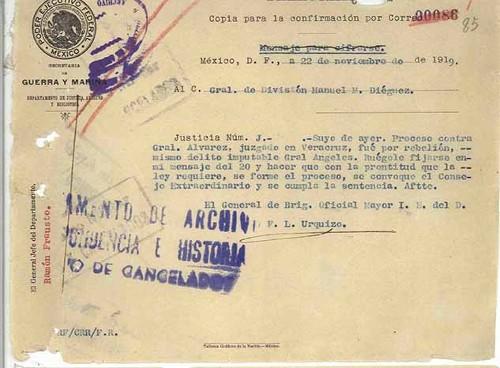 Imagen de Expediente del General de División Felipe Ángeles, tomo VII (propio)