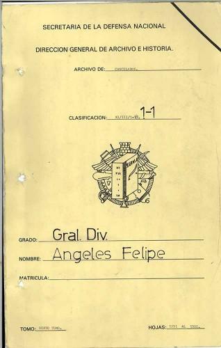 Imagen de Expediente del General de División Felipe Ángeles, tomo VI (propio)