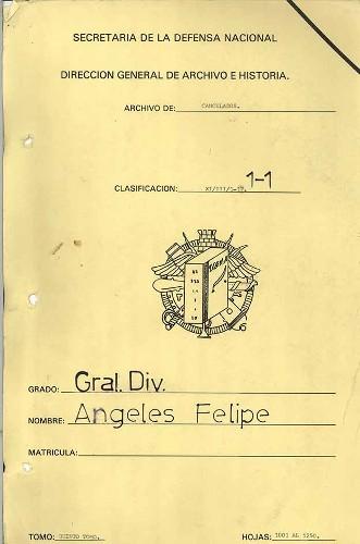 Imagen de Expediente del General de División Felipe Ángeles, tomo V (propio)