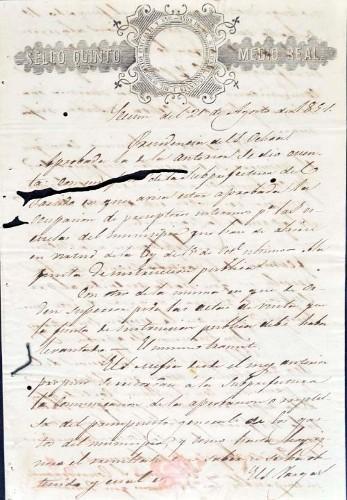 Imagen de Actas del Ilustre Ayuntamiento de Mazatepec, agosto de 1851 (atribuido)
