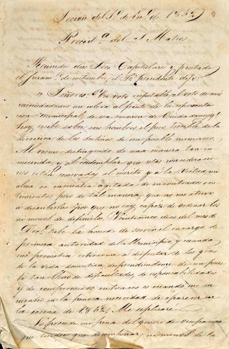 Imagen de Actas del Ilustre Ayuntamiento de Mazatepec, año de 1852 (atribuido)