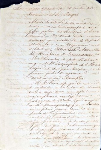 Imagen de Actas del Ayuntamiento de Mazatepec, marzo de 1853 (atribuido)
