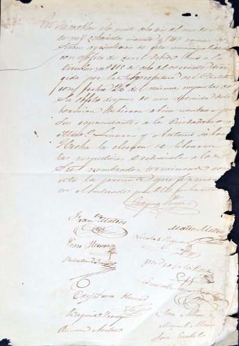 Imagen de Actas del Ayuntamiento de Mazatepec, noviembre de 1853 (atribuido)