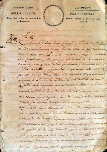 Imagen de Libro de Actas del Ilustre Ayuntamiento de Santo Tomás Miacatlán en el año de 1830 (atribuido)