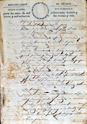 Imagen de Libro de Actas del Ilustre Ayuntamiento de Santo Tomás Miacatlán en el año de 1836 (atribuido)
