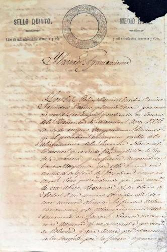 Imagen de Petición para servir en la Guardia Nacional del pueblo de Miacatlán en el año de 1846 (atribuido)
