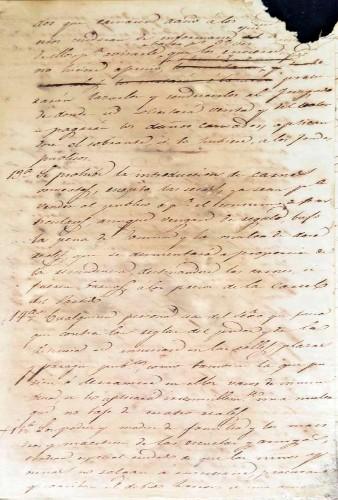 Imagen de Borrador de un Reglamento de Buen Gobierno y Policía del Ayuntamiento de Miacatlán, año de 1847 (atribuido)