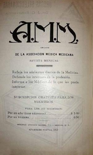 Imagen de Editorial (propio), A.M.M.: Órgano de la Asociación Médica Mexicana (alternativo)