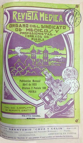 Imagen de Portadilla (propio), Revista Médica: Órgano del Sindicato de Médicos y Profesionistas Conexos de Puebla (alternativo)