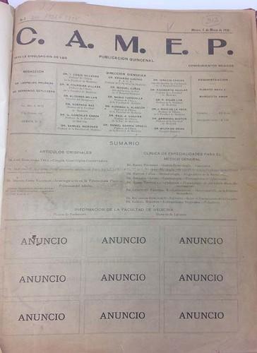 Imagen de Portadilla (propio), C.A.M.E.P. Para la divulgación de los conocimientos médicos (alternativo)