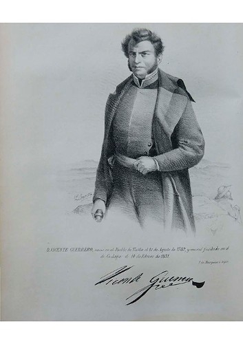 Imagen de Vicente Guerrero en Los gobernantes de México (atribuido)