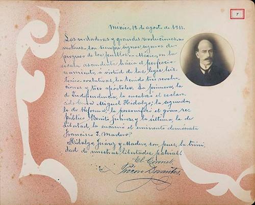Imagen de Lámina del Coronel Prócoro Dorantes; para Francisco I. Madero (atribuido)