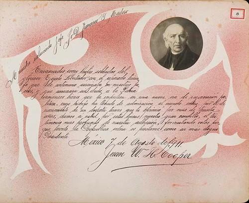 Imagen de Lámina de Juan W. H. Cooper; para Francisco I. Madero (atribuido)