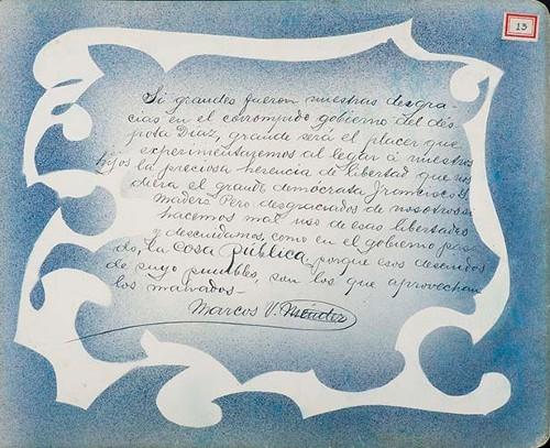 Imagen de Lámina de Marcos V. Méndez; para Francisco I. Madero (atribuido)