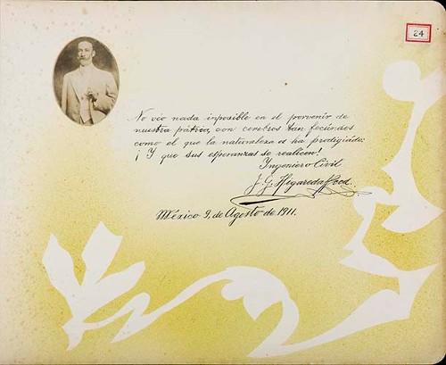 Imagen de Lámina de Ingeniero Civil, J. G. Higareda Reed, Miembro de la Comisión Nacional de Partidos Aliados 1910; para Francisco I. Madero (atribuido)