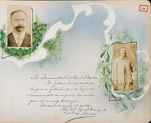 Imagen de Lámina de Tte. Coronel Insurgente Emilio K. Llamas; para Francisco I. Madero (atribuido)
