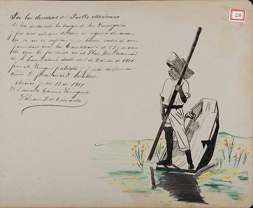 Imagen de Lámina del Teniente Coronel Insurgente, Lázaro P. de Cervantes; para Francisco I. Madero (atribuido)