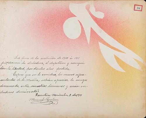 Imagen de Lámina de Manuel Calvea; para Francisco I. Madero (atribuido)