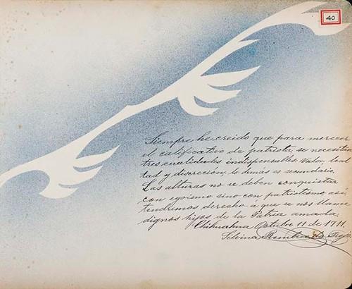 Imagen de Lámina de Silvina [Rembres] de Trejo; para Francisco I. Madero (atribuido)