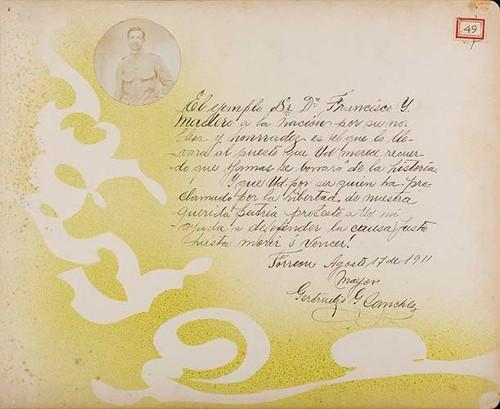 Imagen de Lámina del Mayor Gertrudis G. [Sánchez]; para Francisco I. Madero (atribuido)