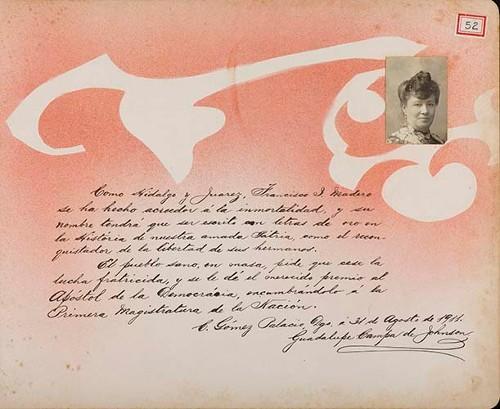 Imagen de Lámina de Guadalupe Campa de Johnson; para Francisco I. Madero (atribuido)