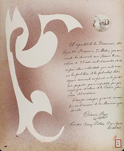 Imagen de Lámina de Dionisio Reyes, Junta Patriótica de la Ciudad Maderista; para Francisco I. Madero (atribuido)