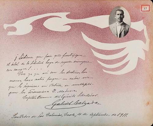 Imagen de Lámina de Gabriel Calzada, Capitán 1° del Ejército Libertador; para Francisco I. Madero (atribuido)