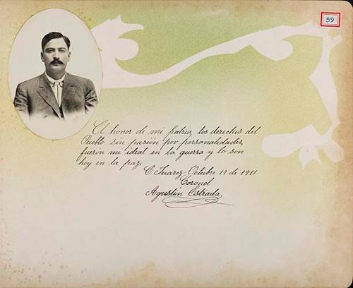 Imagen de Lámina del Coronel Agustín Estrada, maderista a cargo de la guarnición de la Ciudad a fines de 1911; para Francisco I. Madero (atribuido)